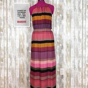 Loft Striped Maxi Dress size 10
